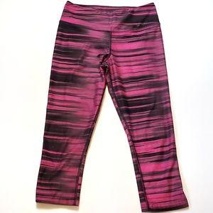 Nike Dri-Fit Capri Athletic Pants - Pink & Black